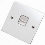 Flat Victorian Polished Chrome Telephone Sockets