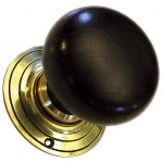 Solid Large Ebonised Bun Door Knobs