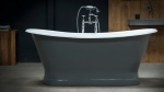 Lyon Cast Iron Bateau Bath With Plinth