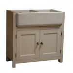 Fitted Kitchen Double Belfast Sink Unit 880