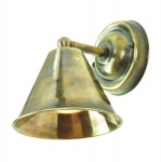 Map Room Small Wall Light - Antique Brass Finish