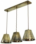 Map Room 3 Light Pendant - Antique Brass
