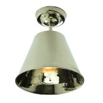 Map Room Flush Ceiling Light - Polished Nickel