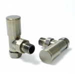 Milan Angled Antique Brass Radiator Valves (Pair)