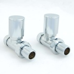 Milan Straight Chrome Radiator Valves (Pair)
