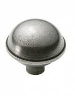 Finesse Dome - Genuine Pewter Cabinet Knob (2 part)