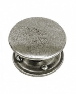 Finesse Luna - Genuine Pewter Cabinet Knob (Includes Backplate)