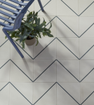 Encaustic Pinstripe Pattern Tile