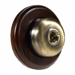 1 Gang 2 Way  Dark Oak Wood, Dome Period Switch