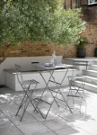 Bistro Bar Set of Table and 2 Chairs - Charcoal