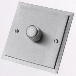 Single Step Dimmer Switch Satin Chrome