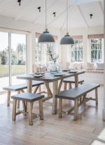 Chilson Table and Bench Set - Cement Fibre - Small