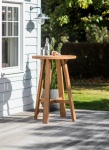 St Mawes Round Bar Table - Reclaimed Teak
