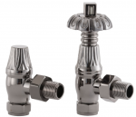 UK-18 Thermostatic Cast Iron Radiator Valve - Black Nickel