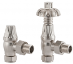 UK-18 Thermostatic Cast Iron Radiator Valve - Brushed Nickel