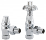UK-18 Thermostatic Cast Iron Radiator Valve - Polished Chrome