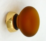 Frosted Smooth Glass Cupboard Knobs