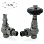 Amberley TRV Cast Iron Radiator Valve - Black Nickel