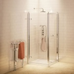 Burlington Bathrooms - Traditional Hinged Shower Door & Side Panel