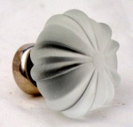 Ribbed Glass Cupboard Knobs