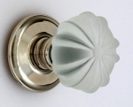 Ribbed Glass Door Knobs