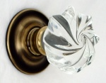 Whirl Glass Door Knobs