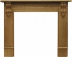 The Edinburgh Corbel Fire Surround - Oak