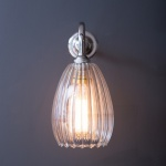 Molly Wall Light Ribbed Clear Glass