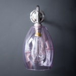 Bertie Wall Light Pink Glass