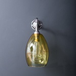 Bertie Wall Light Yellow Glass