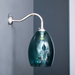 Bertie Wall Light Teal Glass