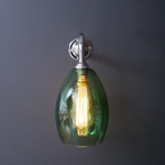 Bertie Wall Light Green Glass