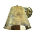 Large Map Room Wall Light - Antique Brass