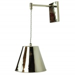 Map Room Adjustable Drop Wall Light - Polished Nickel