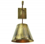 Map Room Adjustable Drop Wall Light - Antique Brass