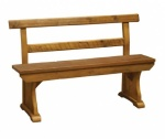 Bench with Back 5'