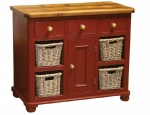 Small Basket Sideboard with Door