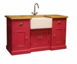 5' Painted Sink Unit Inc Oak Worktop
