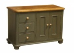 Low 3 Drawer 2 door Sideboard
