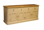 Sideboard 4 Door 4 Drawer Large Round End Bun Feet