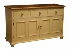 Sideboard 2 Door 3 Drawer Small Round End Bun feet
