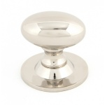 POLISHED NICKEL OVAL CABINET KNOB - SMALL