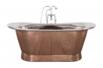 Normandy Copper Bath with Nickel Interior