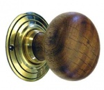 Oak Bun Door Knobs