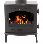 Carron Teal Enamel 4.7kW DEFRA Smoke Exempt Multifuel Stove
