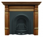 The Coleby Arched Cast Iron Fireplace Package