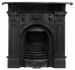 The Large Victorian Cast Iron Fireplace