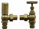 The Victorian Cast Iron Radiator Valve Unlaquered Brass