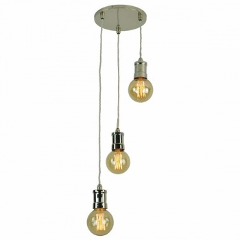 Tommy 3 Light Cluster - Polished Nickel