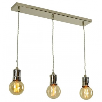 Tommy 3 Light Adjustable Pendant - Polished Nickel